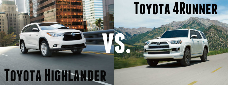 Toyota Highlander Vs Toyota 4Runner >> 2016 Toyota Highlander Vs 2016 Toyota 4runner Toyota Of