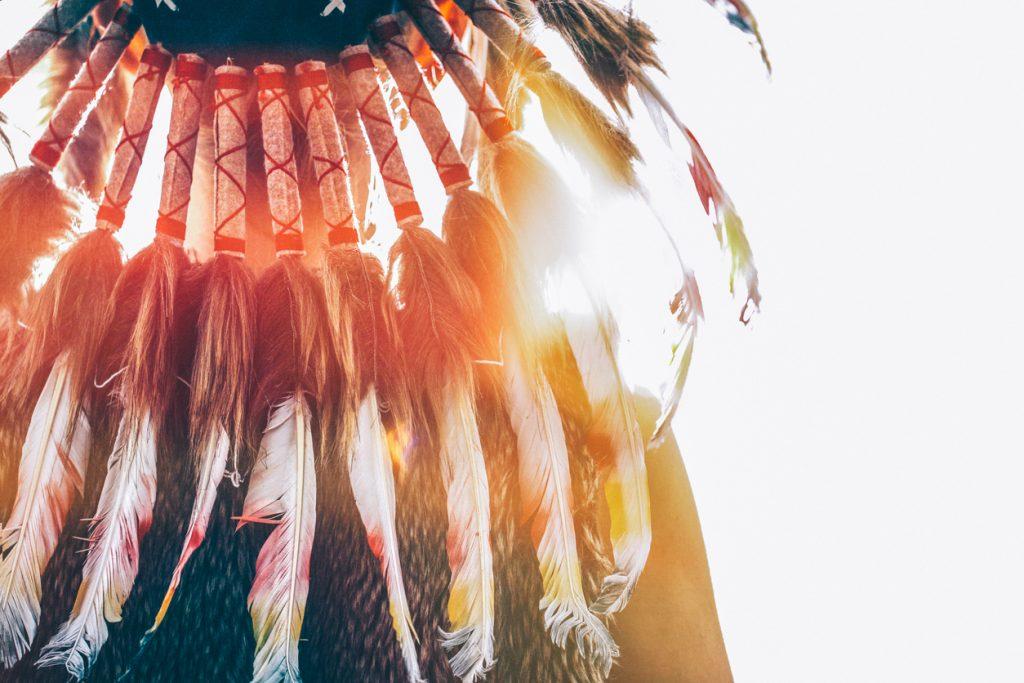 Native American headdress for Art Festival